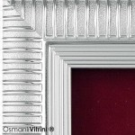 18 cm x 20 cm Gümüş Renk Osmanlı Tuğrası Çerçevesi