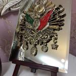 19 cm x 24 cm Aynalı Ayaklı Osmanlı Arma