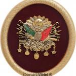 19 cm x 24 cm Oval Sarı Renk Osmanlı Tuğrası