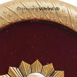 19 cm x 24 cm Oval Sarı Renk Osmanlı Tuğrası Çerçevesi
