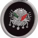 19 cm x 24 cm Oval Gümüş Renk Osmanlı Tuğrası