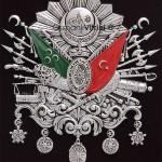 19 cm x 24 cm Oval Gümüş Renk Osmanlı Arması
