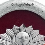 23 cm x 30 cm Oval Gümüş Renk Osmanlı Tuğrası Çerçevesi