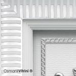 29 cm x 33 cm Beyaz Gümüş Renk Osmanlı Tuğrası Çerçevesi