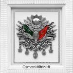 29 cm x 33 cm Beyaz Gümüş Renk Osmanlı Tuğrası