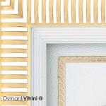 29 cm x 33 cm Beyaz Sarı Renk Osmanlı Tuğrası İç Çerçevesi