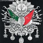 29 cm x 33 cm Gümüş Renk Osmanlı Arması