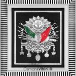 29 cm x 33 cm Gümüş Renk Osmanlı Tuğrası