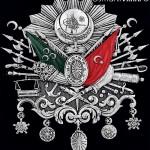 32 cm x 37 cm Oval Gümüş Renk Osmanlı Arması