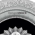 32 cm x 37 cm Oval Gümüş Renk Osmanlı Tuğrası Çerçevesi