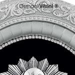 32 cm x 37 cm Oval Gümüş Renk Osmanlı Tuğrası İç Çerçevesi