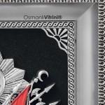 42 cm x 50 cm Gümüş Renk Osmanlı Tuğrası İç Çerçevesi
