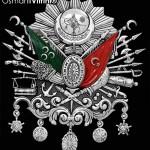 44 cm x 51 cm Oval Beyaz Gümüş Renk Osmanlı Arması