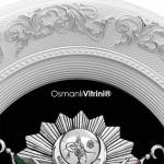 44 cm x 51 cm Oval Beyaz Gümüş Renk Osmanlı Çerçevesi