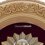 52 cm x 60 cm Oval Sarı Renk Osmanlı Çerçevesi