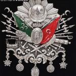 52 cm x 60 cm Oval Gümüş Renk Osmanlı Arması