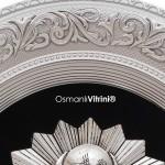 52 cm x 60 cm Oval Gümüş Renk Osmanlı Tuğrası Çerçevesi
