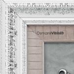 60 cm x 65 cm Beyaz Gümüş Renk Osmanlı Tuğrası Çerçevesi