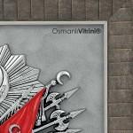 60 cm x 65 cm Gümüş Renk Osmanlı Tuğrası İç Çerçevesi