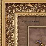 75cmx80cm Taşlı Sarı Renk Osmanlı Tuğrası Çerçevesi
